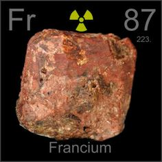 Hipster science the alkali metals for httpift2guqhtb 87 francium fr an ultra rare radioactive alkali metal found in u and alkali metalatomic numberperiodic table urtaz Images