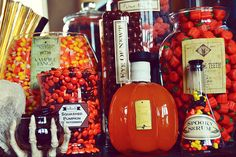 Halloween Candy Bar--perfect for all my glass jars!!!!