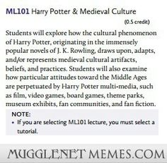 Harry Potter and medevial culture