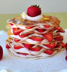 Crepe Layer Cake  - this photo below is from the internet, but you can see how easy it is to assemble something like this from the ph...