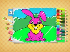 FREE Easter coloring pages - game for Kids. App on iPhone, iPad, Android. Free Easter Coloring Pages, Easter Colouring, Printable Coloring Pages, Coloring Books, Games For Kids, Activities For Kids, Cool Kids, Kids Fun, Color Games