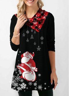 Christmas Sweatshirt Santa Print Long Sleeve Button Embellished Sweatshirt for Women Santa Print Long Sleeve Button Embellished Christmas Sweatshirt Black Christmas, Christmas Fashion, Christmas Tops, Cheap Christmas, Christmas Shirts, Trendy Tops For Women, Fashion Outfits, Womens Fashion, Fashion Clothes