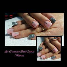 #lescreationsbrillongles #manucure #fullnails #glitternails #rinestonesnails #pinknails #silvernails