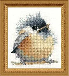 Chickadee Little Friends, counted cross-stitch