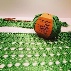 100% Pima Cotton yarn ball in Green | WE ARE KNITTERS