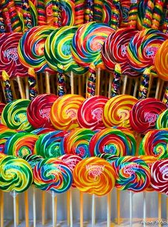"lollipops (reminds me of the candy store in ""Willy Wonka"")"