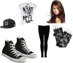 """""""Black and White Skater Girl Outfit"""" by musicangel1994 ❤ liked on Polyvore"""