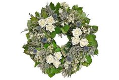 "22"" Rose Wreath, Dried"