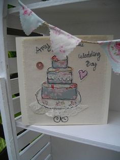 Wedding cards wedding stationary bespoke by SewSweetbySuzanne