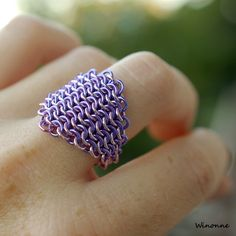 love this chainmaille ring