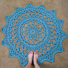 Crochet Pattern: Doily Rug