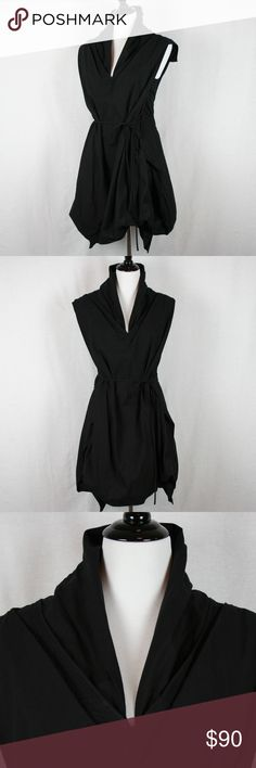 """All Saints Dahlia Dress in Black This dress is so much fun!! Dahlia dress has tons of personality with lots of gathering and higher neckline.  Side zip and waist ties to keep the gathering in place.  The dress is slightly faded but not """"gray"""". All Saints Dresses"""