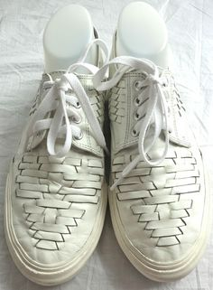 // Comme Des Garcons Homme leather basket weave sneakers