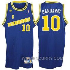 6c6a26ce3196 Tim Hardaway Golden State Warriors  10 Hardwood Classics Throwback Blue Jersey  Xmas Deals