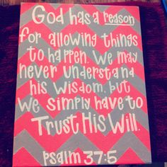 God has a perfect plan for me and my family !