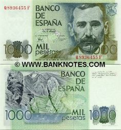 spain currency | Spain 1000 Pesetas 1979 - Spanish Currency Bank Notes, Paper Money ...