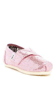 Glitter Classic Slip-On Shoe (Baby, Toddler, & Little Kid) by TOMS on @nordstrom_rack