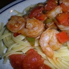 A sauce made from fresh tomatoes is the secret ingredient in this delicious shrimp pasta.