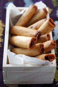 Lumpia [pronounced loom-pyuh] Everyone's fave Filipino food! An absolute must at every holiday dinner. I always remind my mom to make EXTRA.