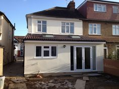 rear extension bifold doors and window - Google Search Single Storey Extension, Rear Extension, Extension Designs, Extension Ideas, Conservatory Extension, Conservatory Ideas, House Extensions, Kitchen Extensions, Kitchen Diner Extension