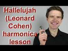 'Hallelujah' by Leonard Cohen - C harmonica lesson: How to play Halleluj. Harmonica How To Play, Harmonica Lessons, Learn To Play Guitar, Violin Lessons, Springsteen The River, Bruce Springsteen, Cool Ukulele, Ukulele Chords, Music Guitar