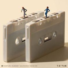 Miniature Calendar Updated Daily | Tanaka Tatsuya's Incredible Mini Figure Art