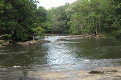 Rio de Piedra en el Municipio Casacoima, su caida asemeja a un tobogán natural