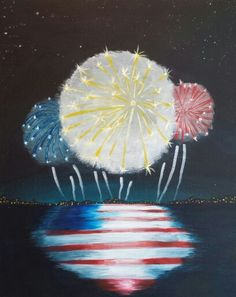 4th of July acrylic painting.