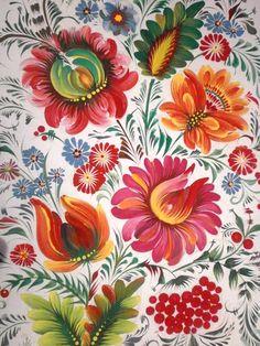 Моя старая работа, петриковская роспись
