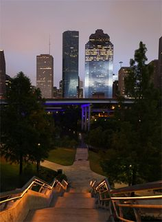 WALL MURAL NEXT TO FITNESS CENTER The Houston Skyline At Sundown