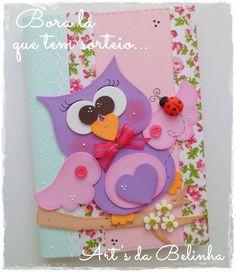 Art's da Belinha Owl Crafts, Preschool Crafts, Diy And Crafts, Crafts For Kids, Paper Crafts, Merian, Felt Owls, Rose Tutorial, Decorate Notebook