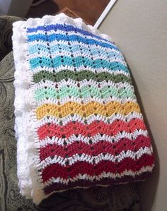 British Baby-Ripple Blanket