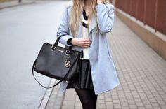Aneta with Michael Kors Sutton bag. December 2014