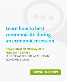 While the principles of good investor relations remain largely unchanged through boom and bust times, communicating in an economic downturn, particularly. Pr Newswire, Marketing Professional, Best Practice, Public Relations, White Paper, Content Marketing, Knowledge, Weather, Learning