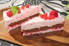 Ihania tuoreita vadelmia ja suklaakakkua yhdistettynä. Suklaakakkupohja on tämä  blogistani jo löytyvä ohje, mutta pais...