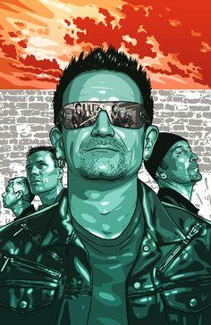 Random Promotion And Poster Art U2 Music, Music Icon, Rock Music, U2 Poster, Rock Poster, Rock Y Metal, Jacky Winter, Greatest Rock Bands, Book Illustration