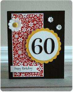Crafty Cucumber: Card of the Week: Happy 60th Birthday