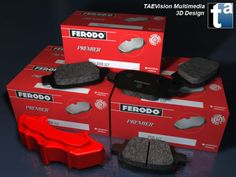 126 - Ref. Ferodo1  :: 3D Scene - FERODO #Brake Systems (II) #automotive #parts #repair