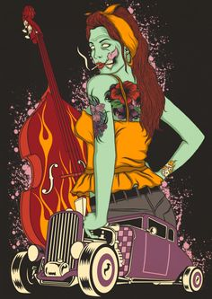 boogie woogie psychobilly... artwork for sale :)