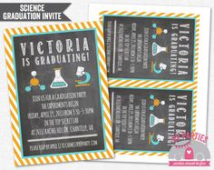 Chemistry or Science Chalkboard Graduation by RVparties on Etsy, $15.00