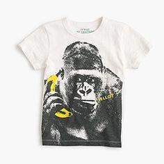 Boys' gorilla on a banana phone T-shirt