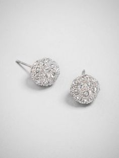 wear our silver pave studs for a subtle touch of sparkle