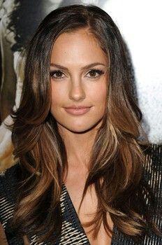 Dark brown and caramel hair color