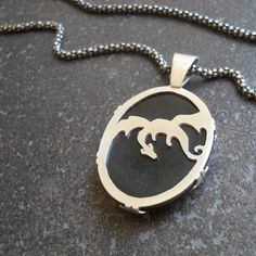 Unique handmade sterling silver and black tigereye dragon pendant Silver Dragon, Black Dragon, Dragon Jewelry, Black Tigers, Dragon Pendant, Handmade Sterling Silver, Dog Tag Necklace, Jewelry Accessories, Pendant Necklace