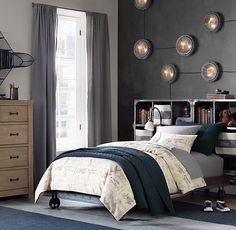 RH Baby & Child's Industrial Cart Platform Bed:A riveted metal frame and oversized locked cast iron wheels give our platform bed an early industrial-era aesthetic straight from the factory floor.