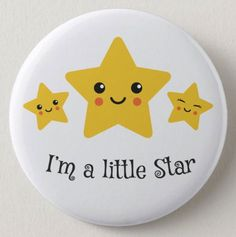 I'm a little star, cute stickers with kawaii style stars. Printable Stickers, Cute Stickers, Planner Stickers, Beauty And The Beast Silhouette, Star Clipart, Montessori, New T Shirt Design, Kawaii Doodles, Baby Scrapbook