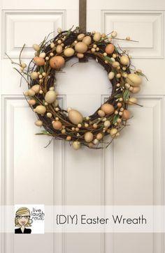 Beautiful DIY Easter wreath