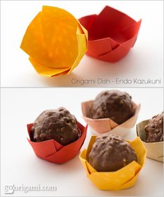 Origami Dish by Endo Kazukuni | Go Origami!