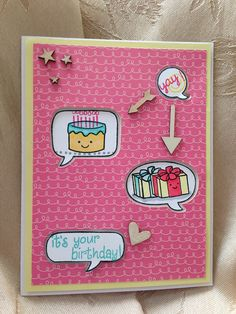 Lawn Fawn - Year Three, A Birdie Told Me, Pa-Rum-Pa-Pa-Pum, Clever Birthday Card!: Yay, it's your birthday! | Flickr - Photo Sharing!