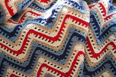 Crochet Afghan - American Ripple - Crochet Blanket on Etsy, $60.00